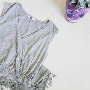 UNIQLO Wrap style fringe dress
